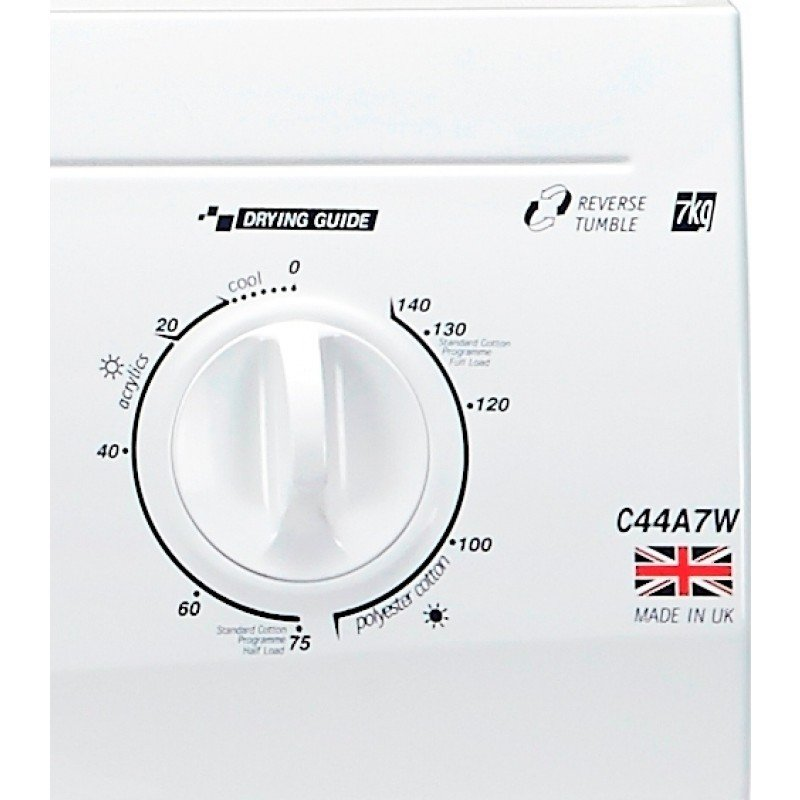White Knight C44a7w Reverse Vented Tumble Dryer 7kg